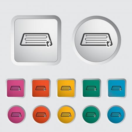 Heating automotive glass single icon. Stock Vector - 17355266