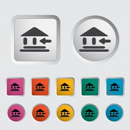 Entry single icon. Vector illustration. Stock Vector - 17355263