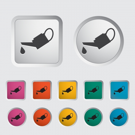 oiler: Oiler single icon. Vector illustration.