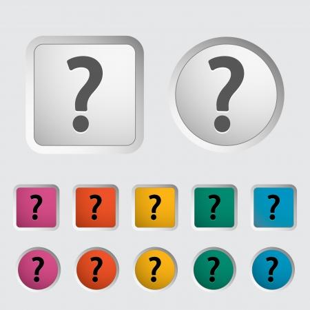 Question mark single icon Stock Vector - 18015265