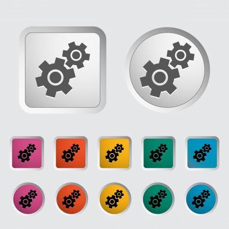 Gear icon   Stock Vector - 18015281