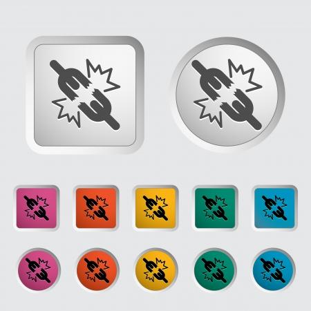 Broken connection single icon Stock Vector - 18015339