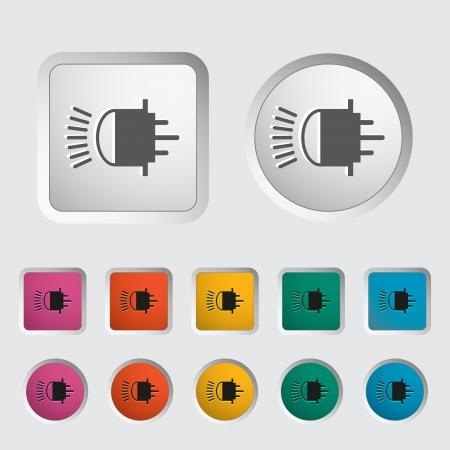 xenon: Xenon coche l�mpara icono ilustraci�n vectorial