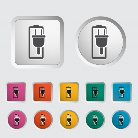 Charging the battery, single icon  Vector illustration Stock Vector - 18052419