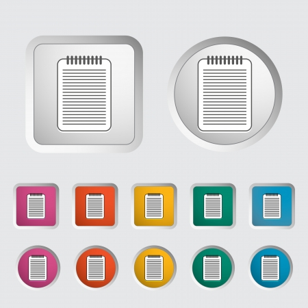 notarized: Document single icon  Vector illustration