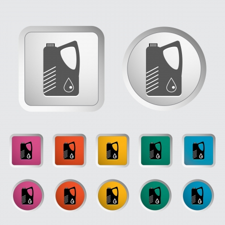 Jerrycan single icon. Vector illustration. Vector