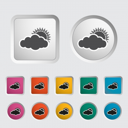 cloudiness: Cloudiness single icon illustration