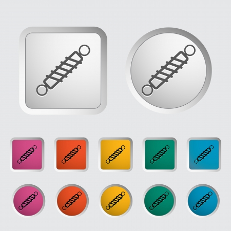 Automobile shock absorber single icon  Vector illustration  Stock Vector - 18052430