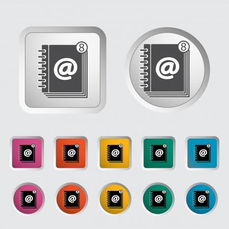 contact book: P�ngase en contacto con icono solo libro. Vector ilustraci�n.