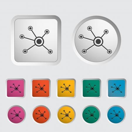 Social network single icon  Vector illustration  Stock Vector - 18052431