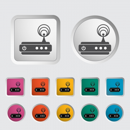 isdn: Router single icon  Vector illustration  Illustration