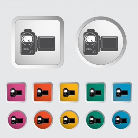 Video camera single icon  Vector illustration  Stock Vector - 18052514