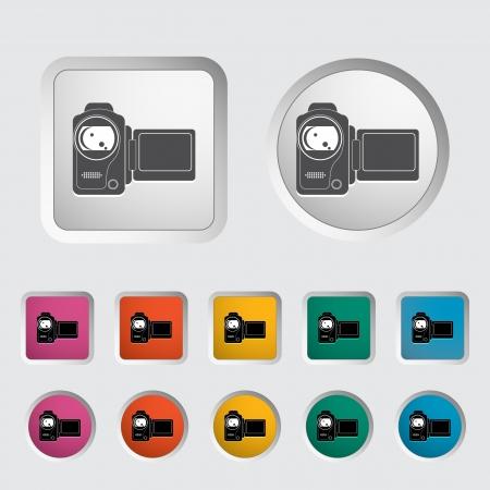 Video camera single icon  Vector illustration Stock Vector - 18052514