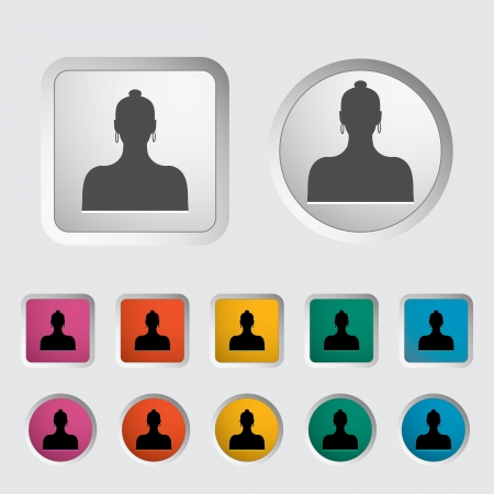Female avatar single icon illustration Stock Vector - 18052426