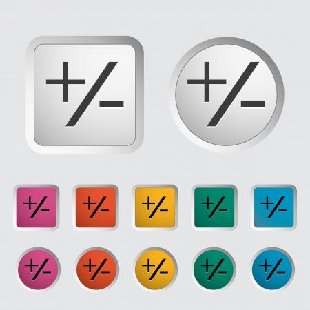 Plus minus single icon illustration  Stock Vector - 18052510