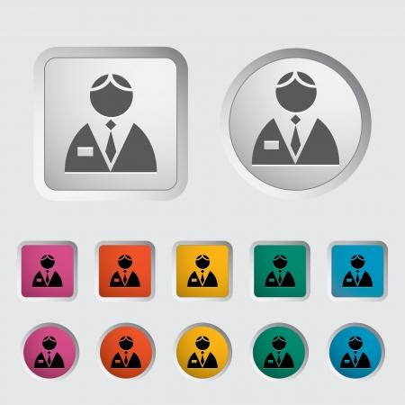 Person single icon  Vector illustration Stock Vector - 18052513