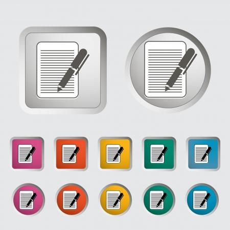 Document single icon  Vector illustration Stock Vector - 18192162