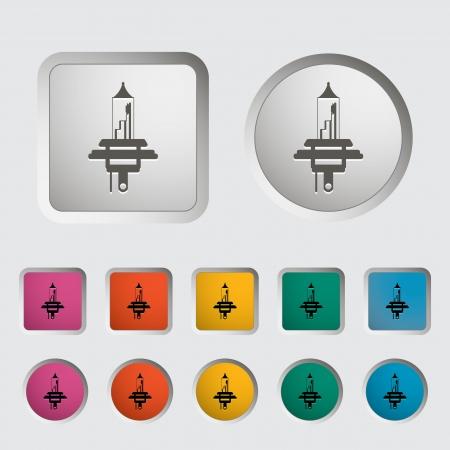 xenon: Xenon car lamp icon  Vector illustration Illustration