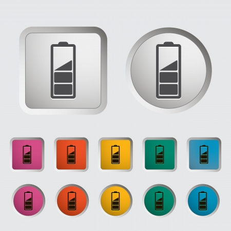 Charging the battery, single icon  Vector illustration  Stock Vector - 18192167