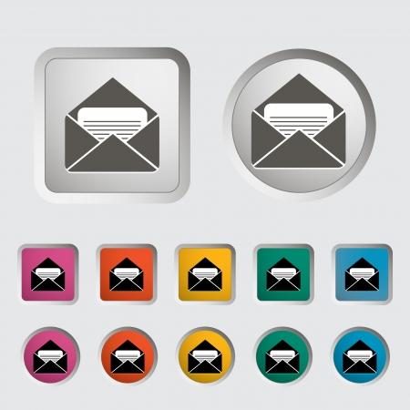 Envelope icon  Vector illustration EPS Stock Vector - 18192166