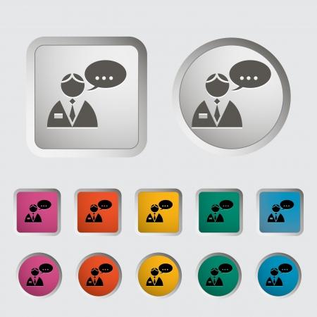 whispering: Man speak single icon  Vector illustration