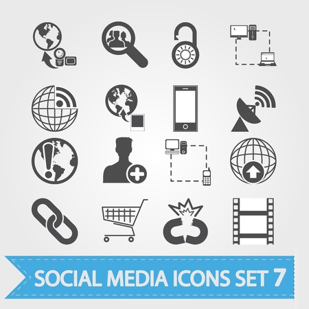Social media related icons for your design or application Stock Vector - 18291094
