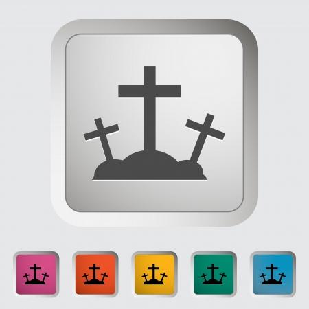 calvary: Calvary single icon. illustration.