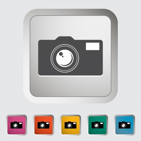 Icon vintage camera. Vector illustration. Stock Vector - 18458363