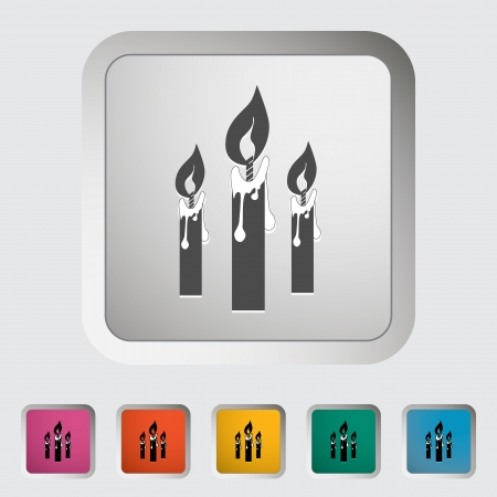 Candles single icon. illustration. Vector