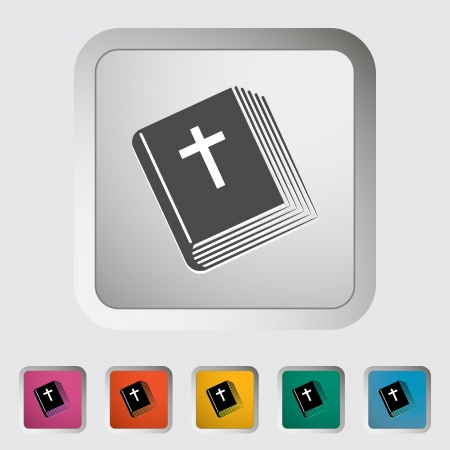 Bible single icon. illustration. Stock Vector - 18458365