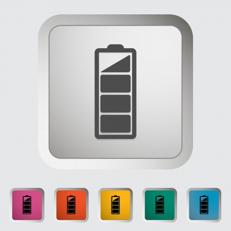 Charging the battery, single icon. illustration. Stock Vector - 18458347