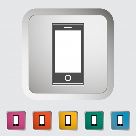 Smartphone single icon illustration  Stock Vector - 18512811