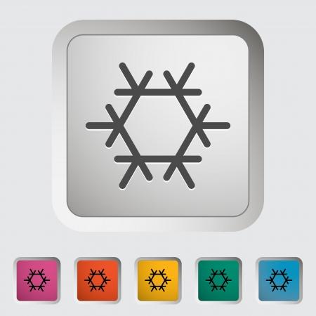 fresh air: Aria condizionata singola icona, vettore, illustrazione