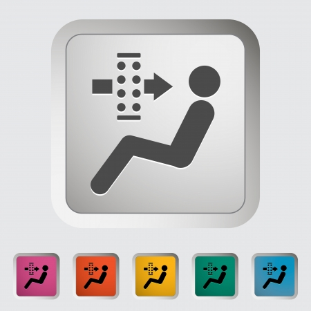 air filter: Air filter  Single icon  Vector illustration