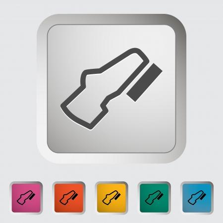 Adjustable pedal  Single icon  Vector illustration  Ilustrace