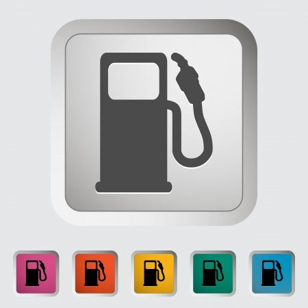 Fuel  Single icon  Vector illustration  Stock Vector - 18519095