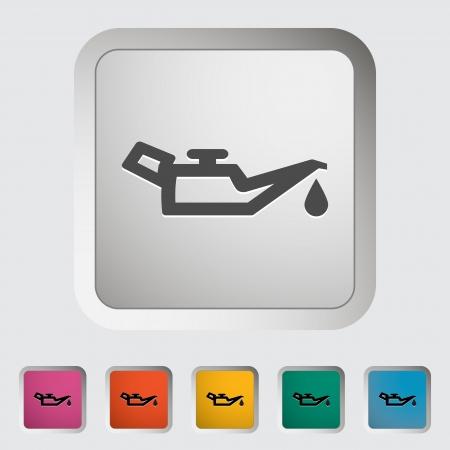 pressure bottle: El aceite del motor �nico icono Ilustraci�n vectorial Vectores