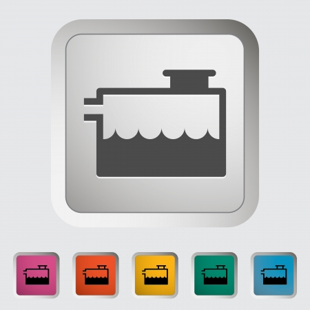 bomba de agua: Indicador de refrigerante bajo. Único icono. Vector ilustración.