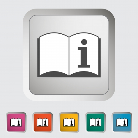 See owner's manual. Single icon. Vector illustration.