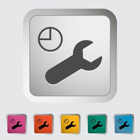 Service. Single icon. Vector illustration. Stock Vector - 18519046