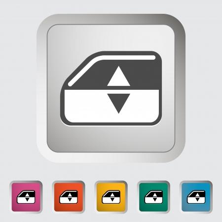 lift lock: Window lift. Single icon. Vector illustration. Illustration