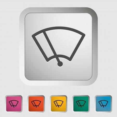 ruitenwisser: Auto pictogram wisser. Vector illustratie.