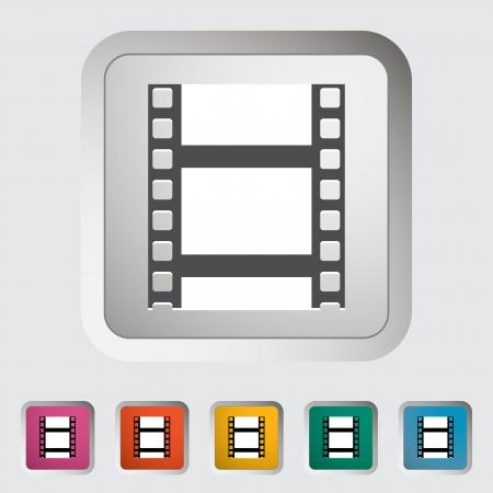 Videotape. Single icon. Vector illustration. Stock Vector - 18519103