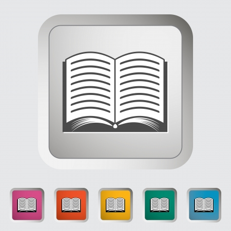 Book  Single icon  Vector illustration Stock Vector - 18564098