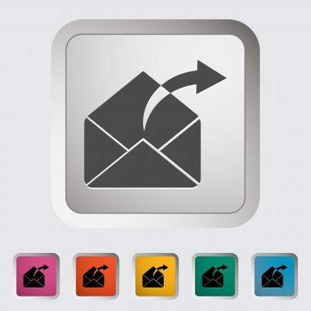 Envelope icon  Vector illustration EPS Stock Vector - 18563067