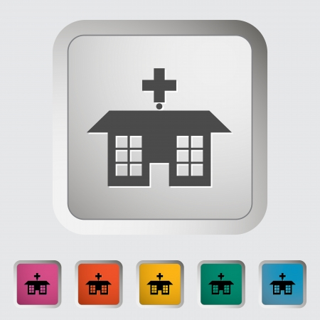 Hospital  Single icon  Vector illustration Stock Vector - 18564069
