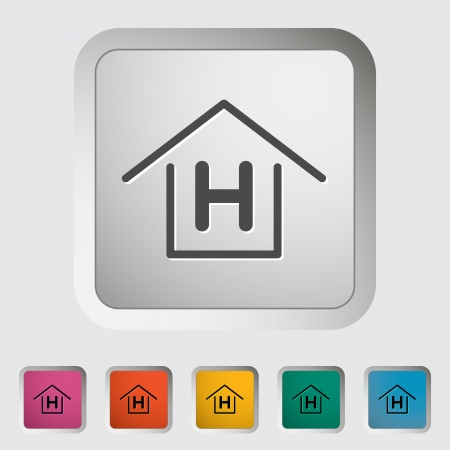 Hostel  Single icon  Vector illustration  Vector