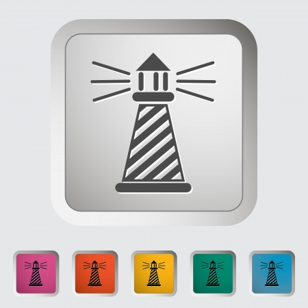 lighthouse keeper: Lighthouse  Single icon  Vector illustration