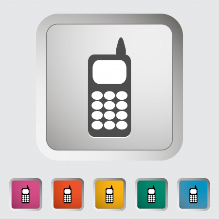 Phone single icon. Vector illustration. Stock Vector - 18564077