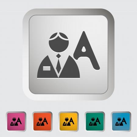 Person single icon. Vector illustration. Stock Vector - 18564078